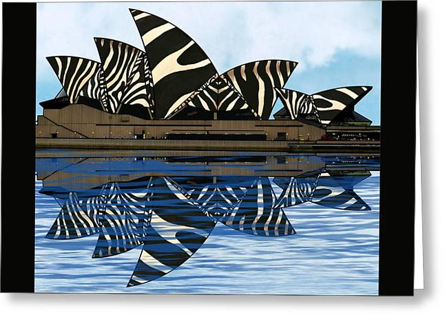 Zebra Opera House 4 Greeting Card