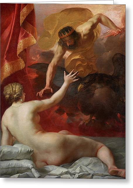 Zeus And Semele Greeting Card