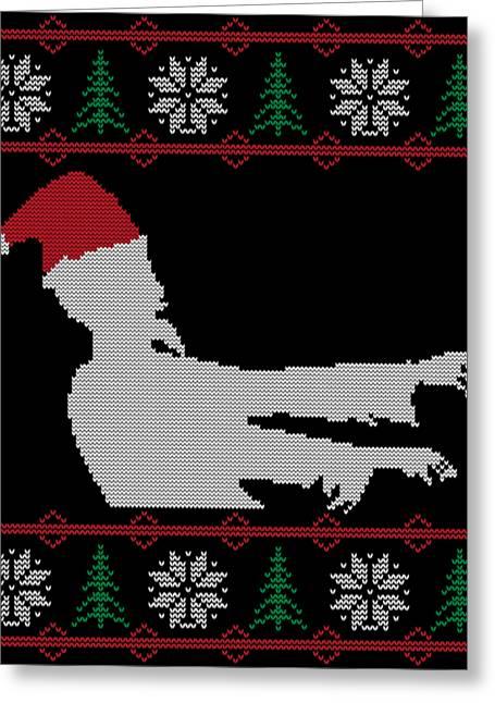 Zombie Santa Ugly Christmas Sweater Greeting Card