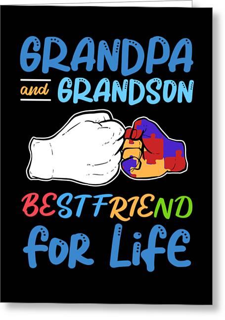 Grandpa And Grandson Greeting Cards Fine Art America