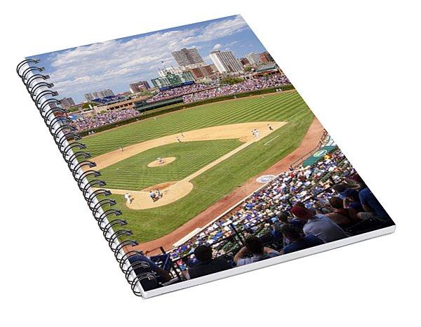 0100 Wrigley Field - Chicago Illinois Spiral Notebook