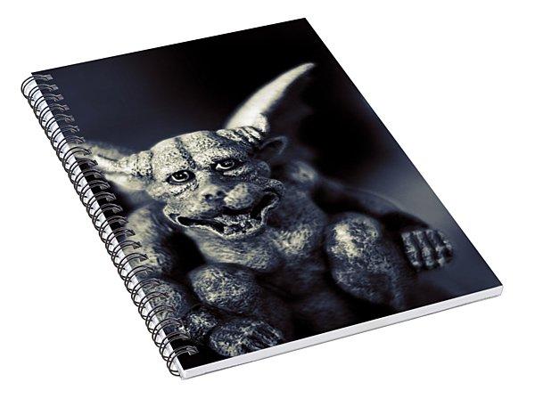 Evil Gargoyle Statue Spiral Notebook