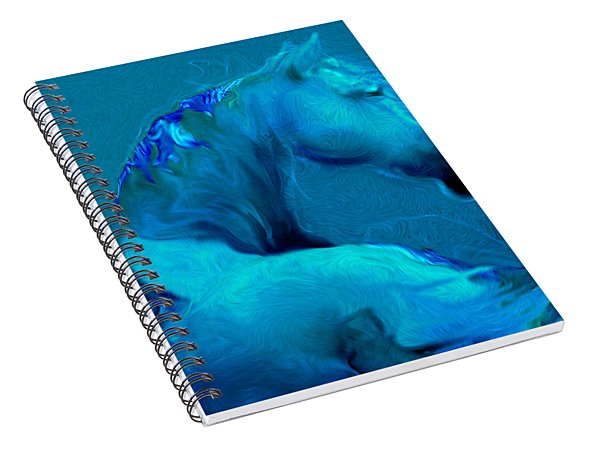 Blue Horse Spiral Notebook