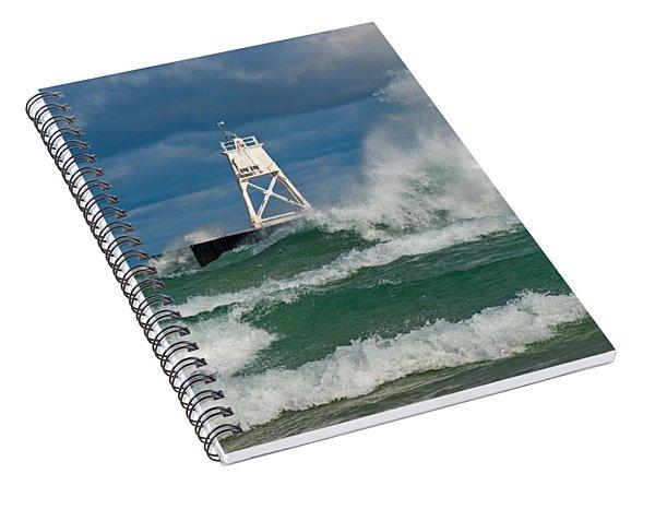 Break Wall Waves Spiral Notebook