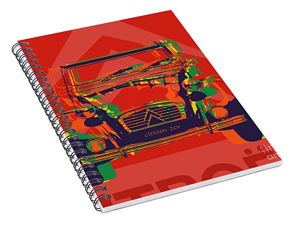 Citroen 2cv Spiral Notebook