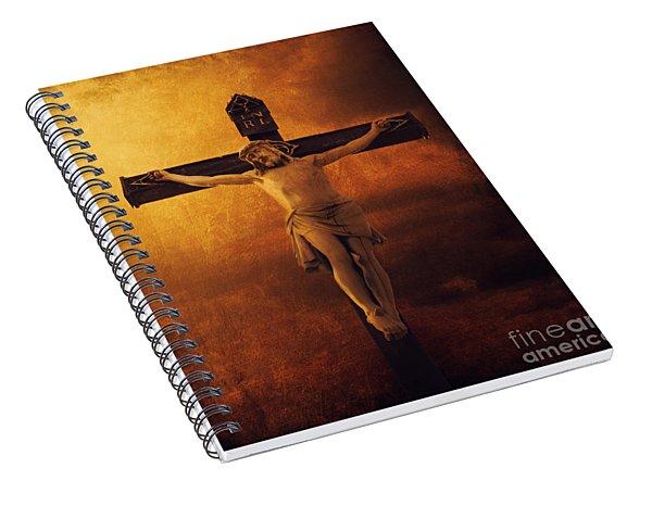 Crucifixcion Spiral Notebook