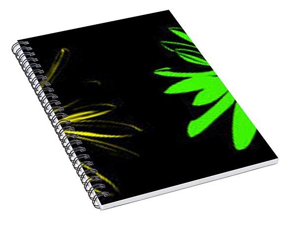 Flowers On Black Spiral Notebook
