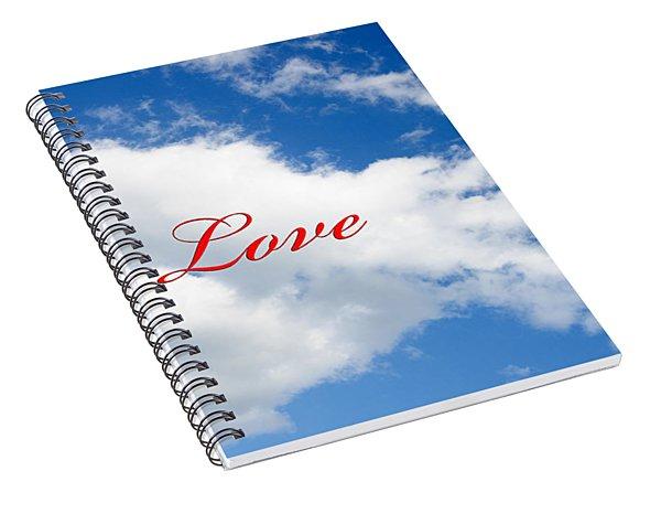 1 I Love You Heart Cloud Spiral Notebook