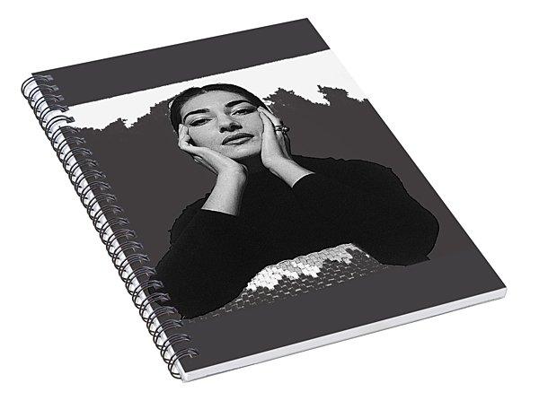 Opera Singer Maria Callas  Cecil Beaton Photo No Date-2010 Spiral Notebook