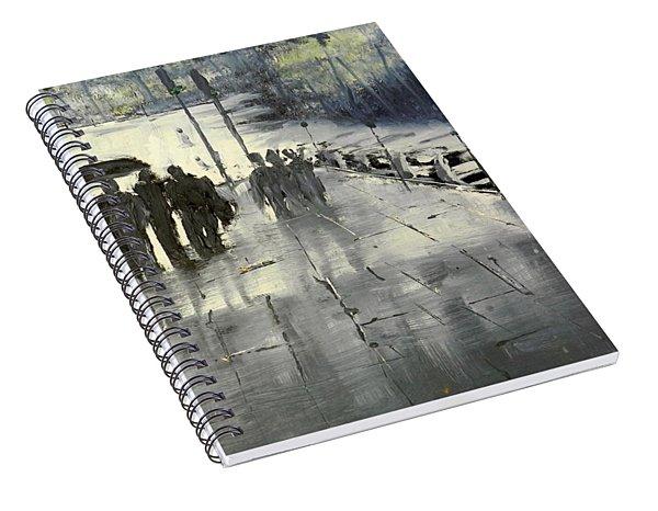 Rainy City Street Spiral Notebook
