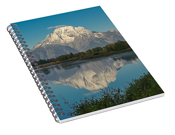 Reflections Of Mount Moran Spiral Notebook
