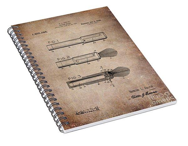 Shaving Brush Diagram 1920  Spiral Notebook