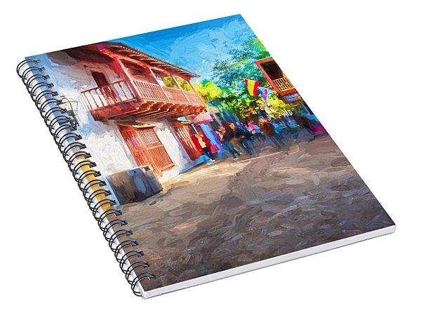 St George Street St Augustine Florida Painted Spiral Notebook