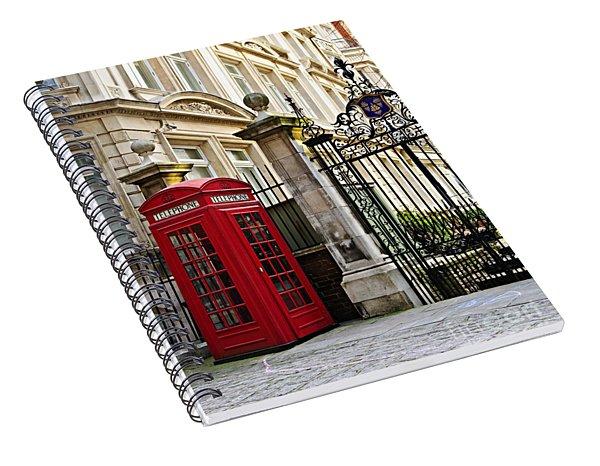 Telephone Box In London Spiral Notebook
