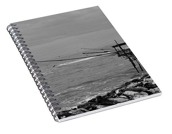 Trabocco On The Coast Of Italy  Spiral Notebook