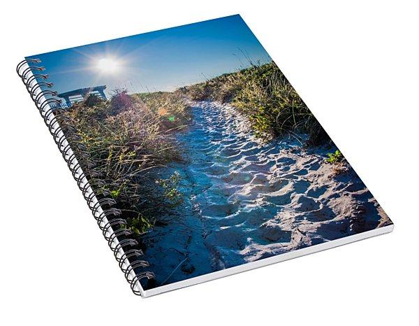 Spiral Notebook featuring the photograph Wilmington Coastal Scene Wilmington North Carolina by Alex Grichenko
