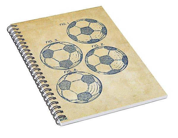 1964 Soccerball Patent Artwork - Vintage Spiral Notebook