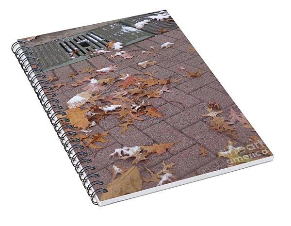 1st Snow Detail Spiral Notebook