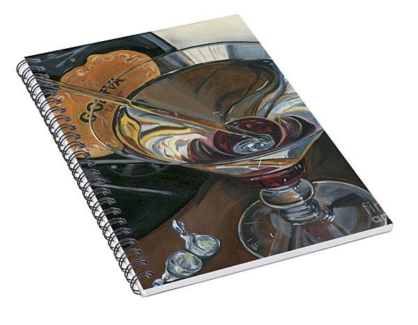 Chocolate Martini Spiral Notebook