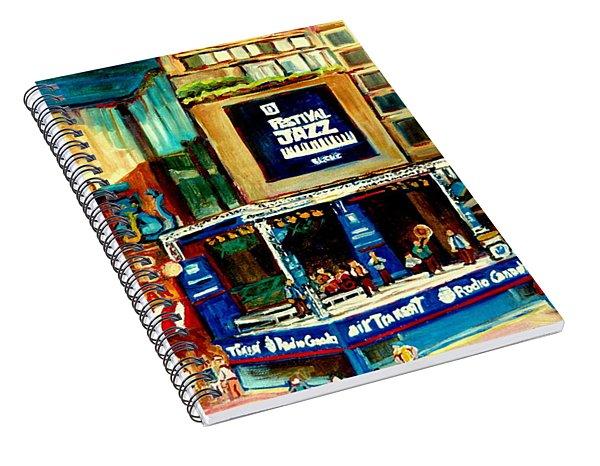 Montreal International Jazz Festival Spiral Notebook