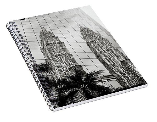 Petronas Towers Reflection Spiral Notebook