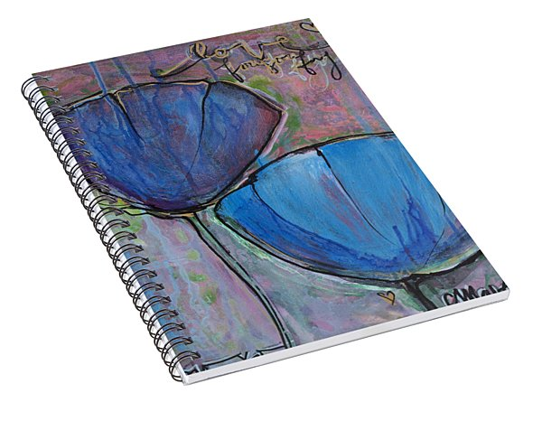 Two Blue Poppies Spiral Notebook