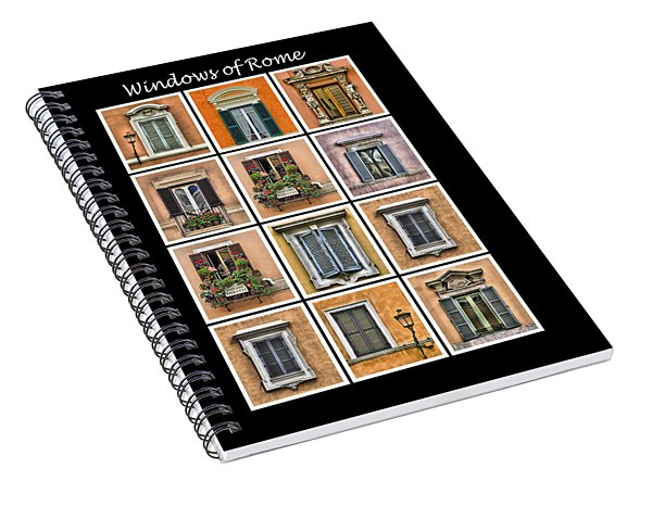 Windows Of Rome Spiral Notebook