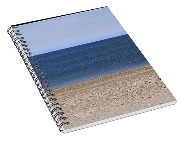 Color Bars Beach Scene Spiral Notebook