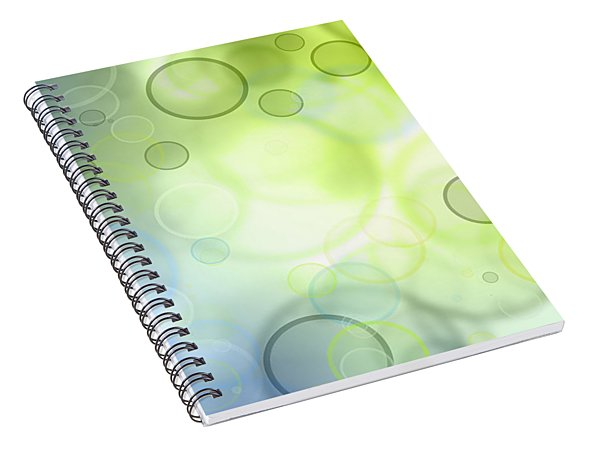 Abstract Circles 44 Spiral Notebook