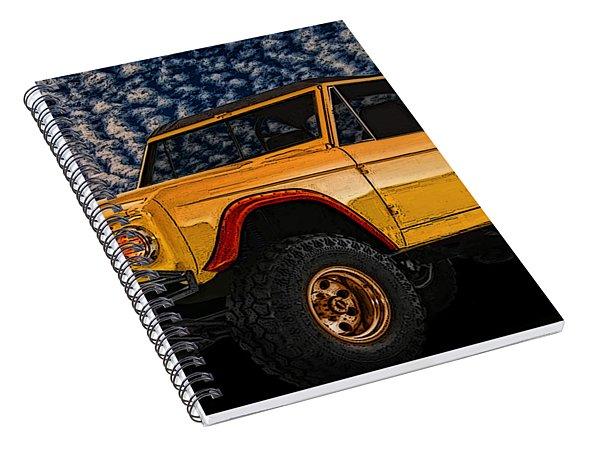 69 Ford Bronco 4x4 Restoration Spiral Notebook