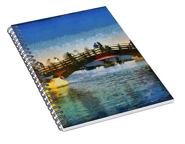 Sunset In Lefkada Town Spiral Notebook
