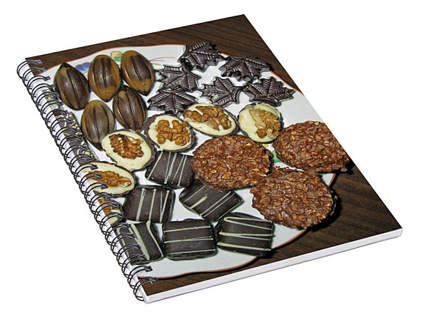 A Plate Of Chocolate Sweets Spiral Notebook