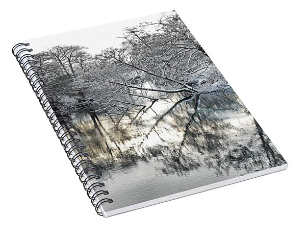Spiral Notebook featuring the photograph A Winter Scene by Paul Gulliver