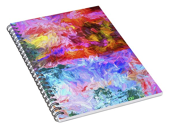 Abstract Series 20 Spiral Notebook