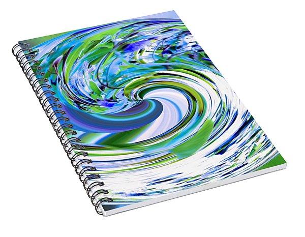 Abstract Reflections Digital Art #3 Spiral Notebook