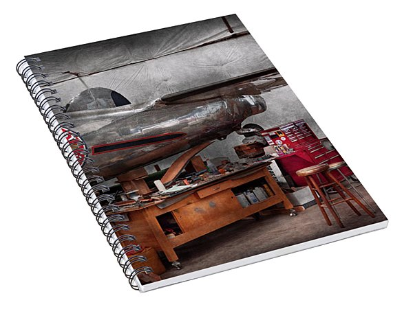 Airplane - The Repair Hanger  Spiral Notebook