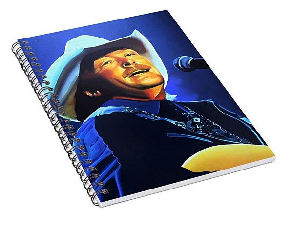 Alan Jackson Painting Spiral Notebook