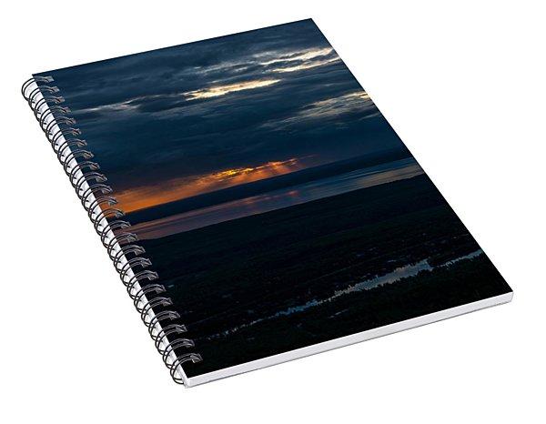 Alaskan Midnight Storms Spiral Notebook
