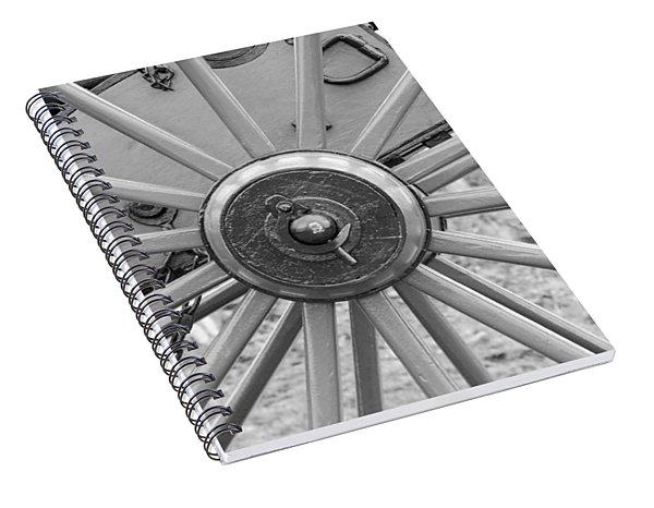 American Civil War Cannon Wheel Spiral Notebook