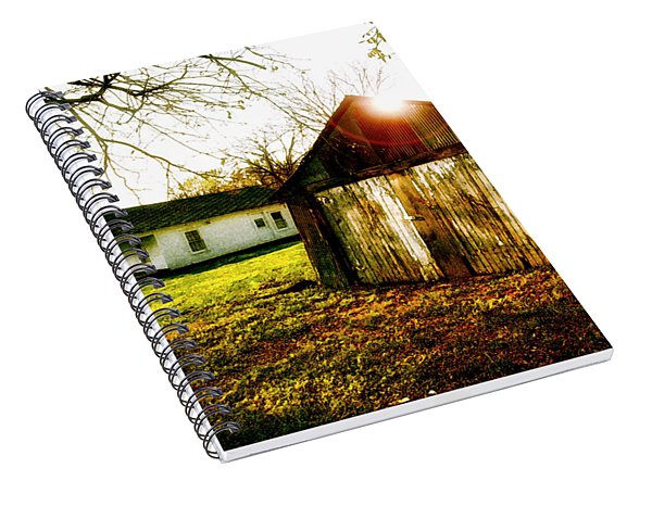 American Fabric   Mickey Mantle's Childhood Home Spiral Notebook