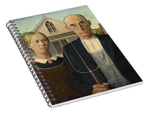 American Gothic Spiral Notebook