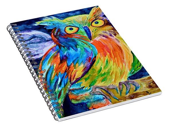 Ampersand Owl Spiral Notebook