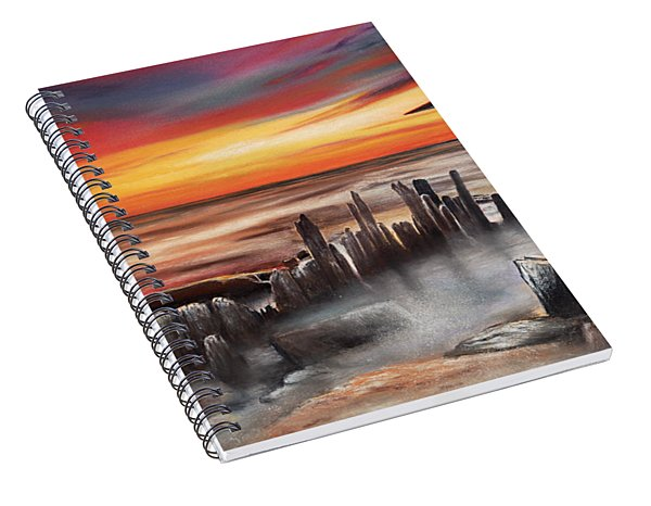 Another Bloody Sunset Spiral Notebook