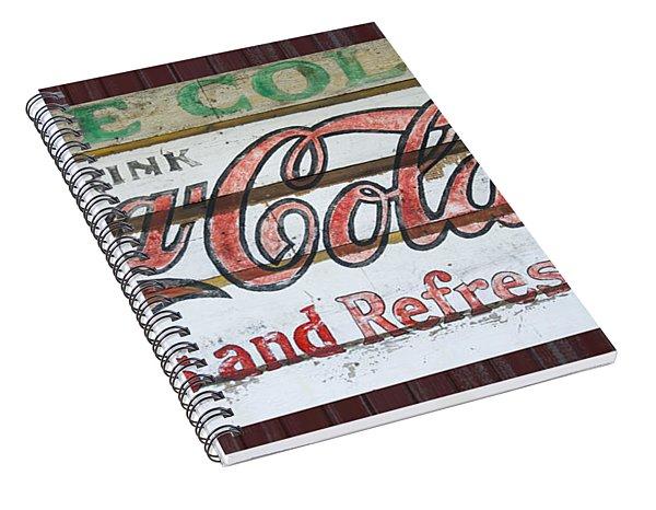 Antique Coca Cola Sign  Spiral Notebook