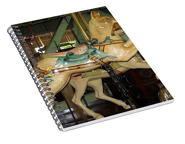Antique Dentzel Menagerie Carousel Cat Spiral Notebook