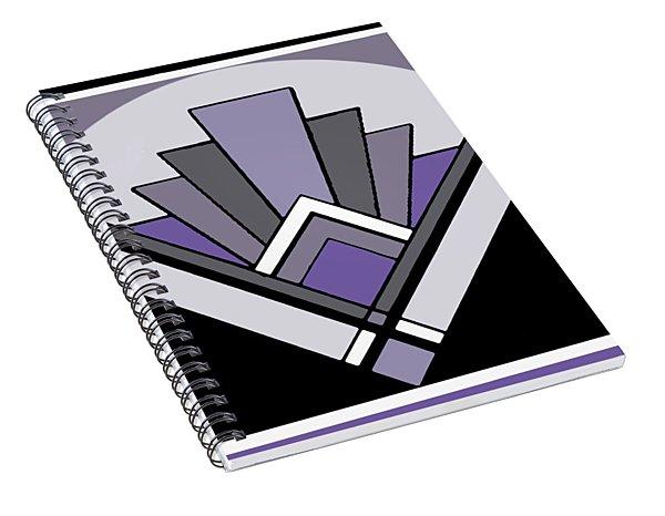 Art Deco Pattern Two - Purple Spiral Notebook