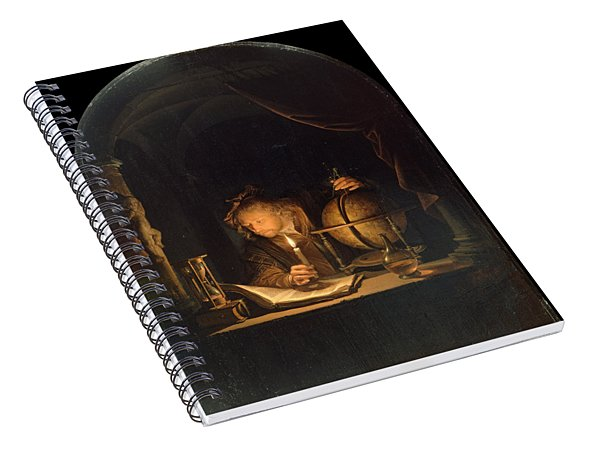 Astronomer By Candlelight Spiral Notebook