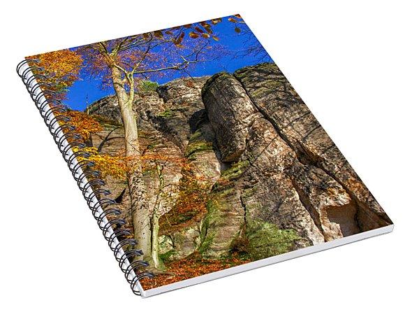 Autumn Colors In The Saxon Switzerland Spiral Notebook