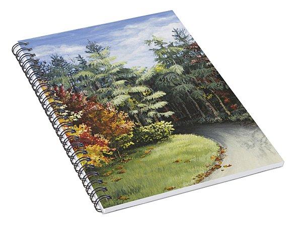 Autumn In The Arboretum Spiral Notebook