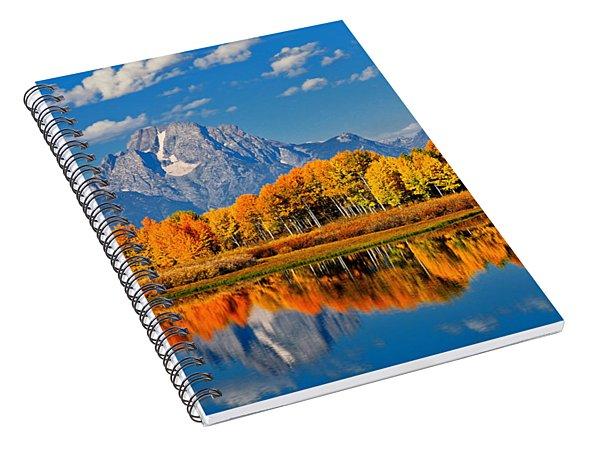 Autumn Peak At Oxbow Bend Spiral Notebook
